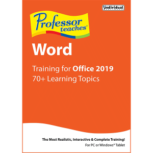 Professor Teaches Word 2019