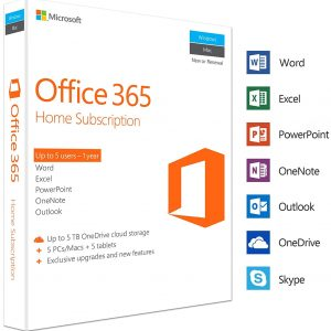 Microsoft Office 365 Home – 5 Users